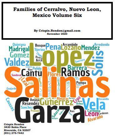 Families of Cerralvo, Nuevo Leon, Mexico Volume Six