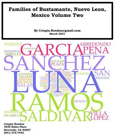 Families of Bustamante, Nuevo Leon, Mexico Volume Two