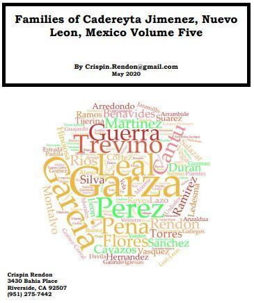 Families of Cadereyta Jimenez, Nuevo Leon, Mexico Volume Five
