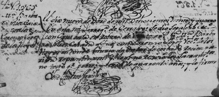 Record of Maria Barbara Rios