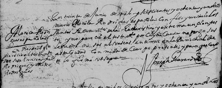 1681 Death Record of Monica Rodriguez