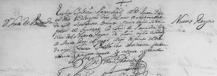 Luis Garcia de Pruneda Death Record
